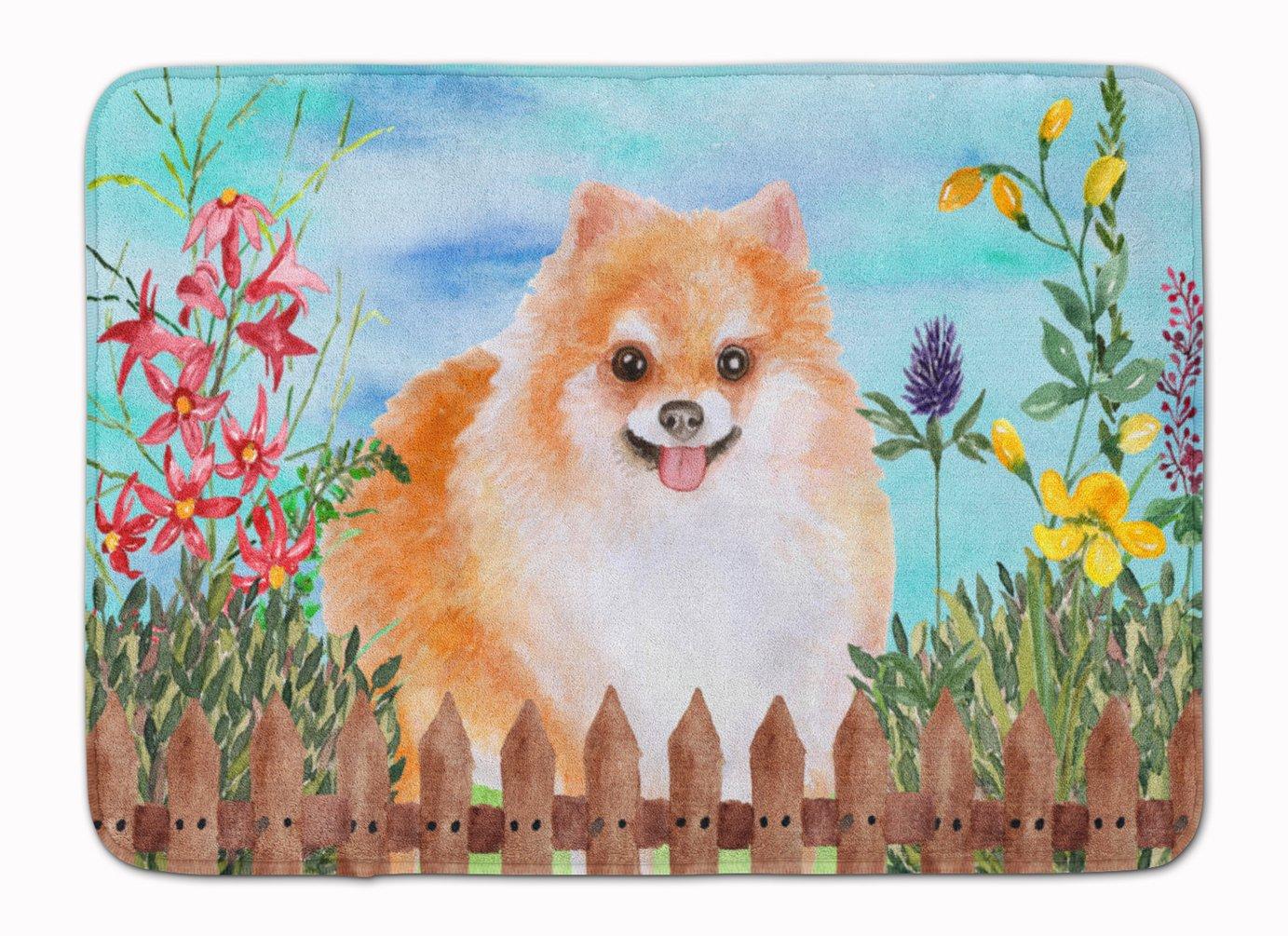 Carolines Treasures Pomeranian #2 Spring Floor Mat 19 x 27 Multicolor