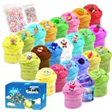 Partyforu 24 Pack Slime, Butter Slime-Stitch, Strawberry, Lollipop, 24 Colors Slime, Fruit and Animal Combination