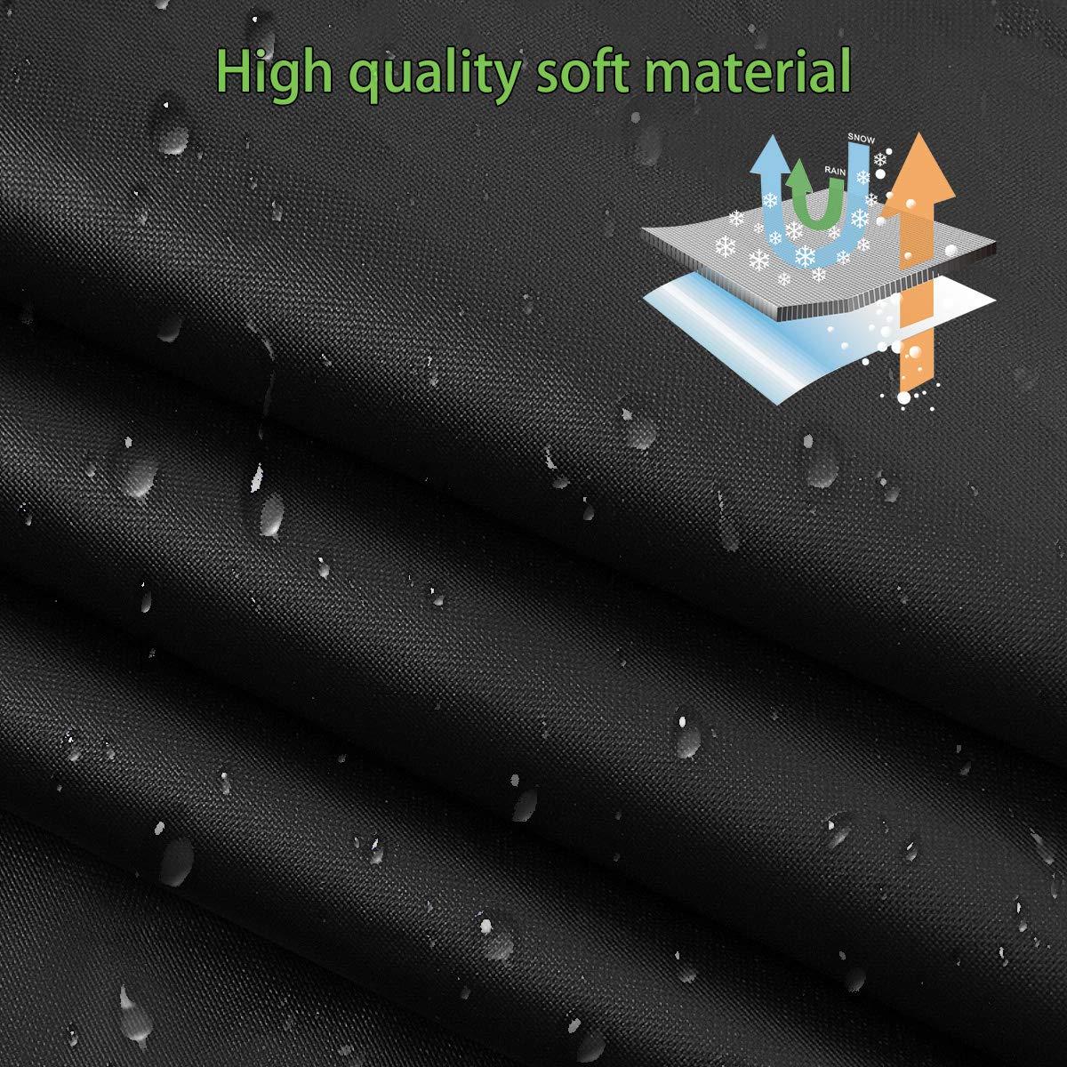340 * 160 * 60cm MATCC B/âche Voiture Demi-Housse Couverture de Pare-Brise Bache Pare Brise avec Bande R/éfl/échissante Anti-Neige Protection UV