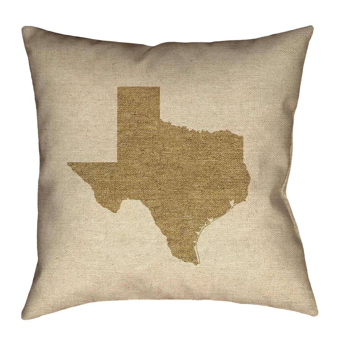 ArtVerse Katelyn Smith 26' x 26' Poly Twill Double Sided Print with Concealed Zipper & Insert Texas Canvas Pillow