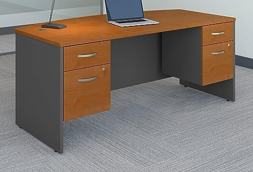 Bush Business Furniture Series C 72W x 36D Bow Front Desk