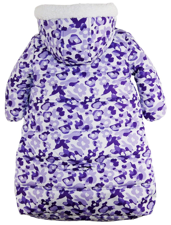 Pink Platinum Baby Girls Snowsuit Carbag Floral Camo Winter Puffer Bunting Pram, Purple, 3-6 Months by Pink Platinum (Image #3)
