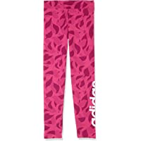 adidas Girls' Linear Printed TighTracksuit, Real Magenta/Pantone/White(Red), 116(5-6 Years)