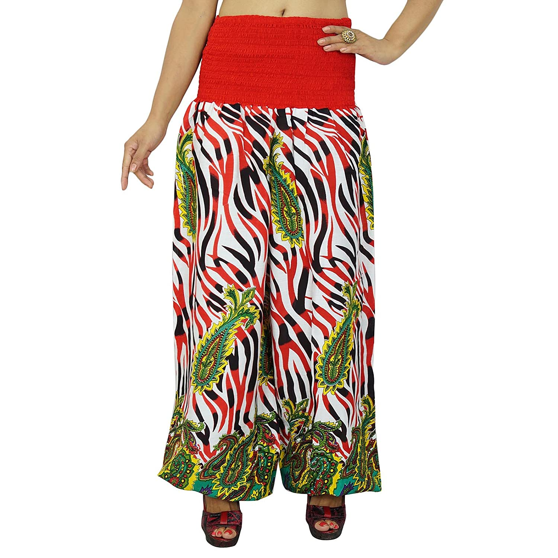 Floral Yoga Pants elastische Hose Beach Wear Harem Pyjamas One GRÖSSE