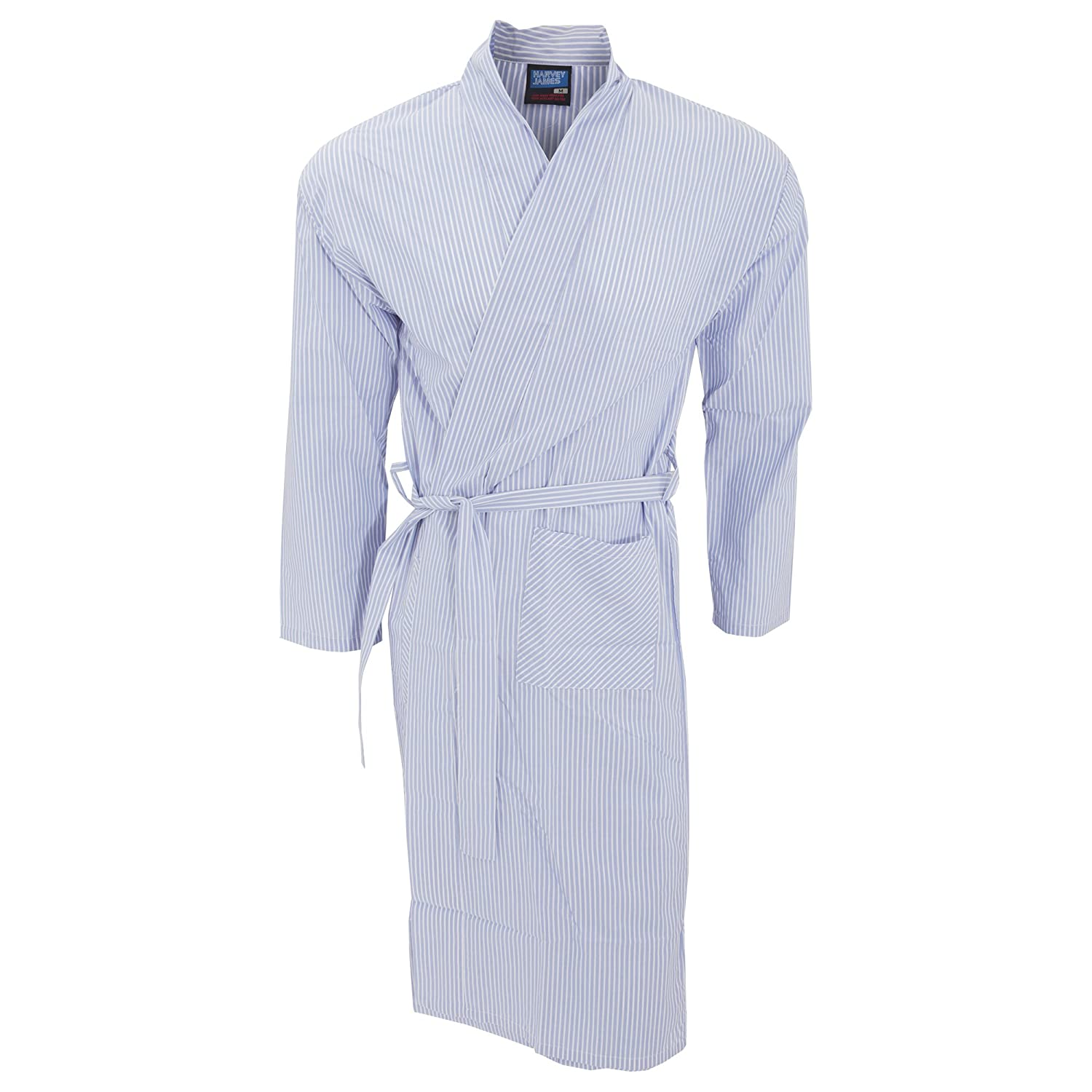 Universal Textiles Mens Lightweight Patterned Kimono Robe