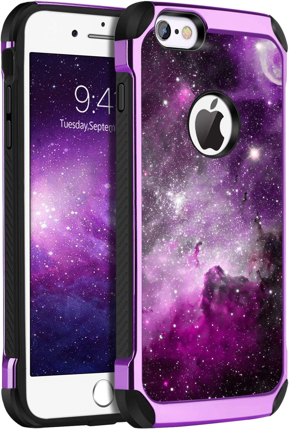 BENTOBEN iPhone 6S Case, iPhone 6 Case, Slim Fit Glow in The Dark 2 in 1 Heavy Duty Rugged Hybrid Soft TPU Bumper Hard PC Shockproof Protective Cases Cover for Apple iPhone 6/6S 4.7