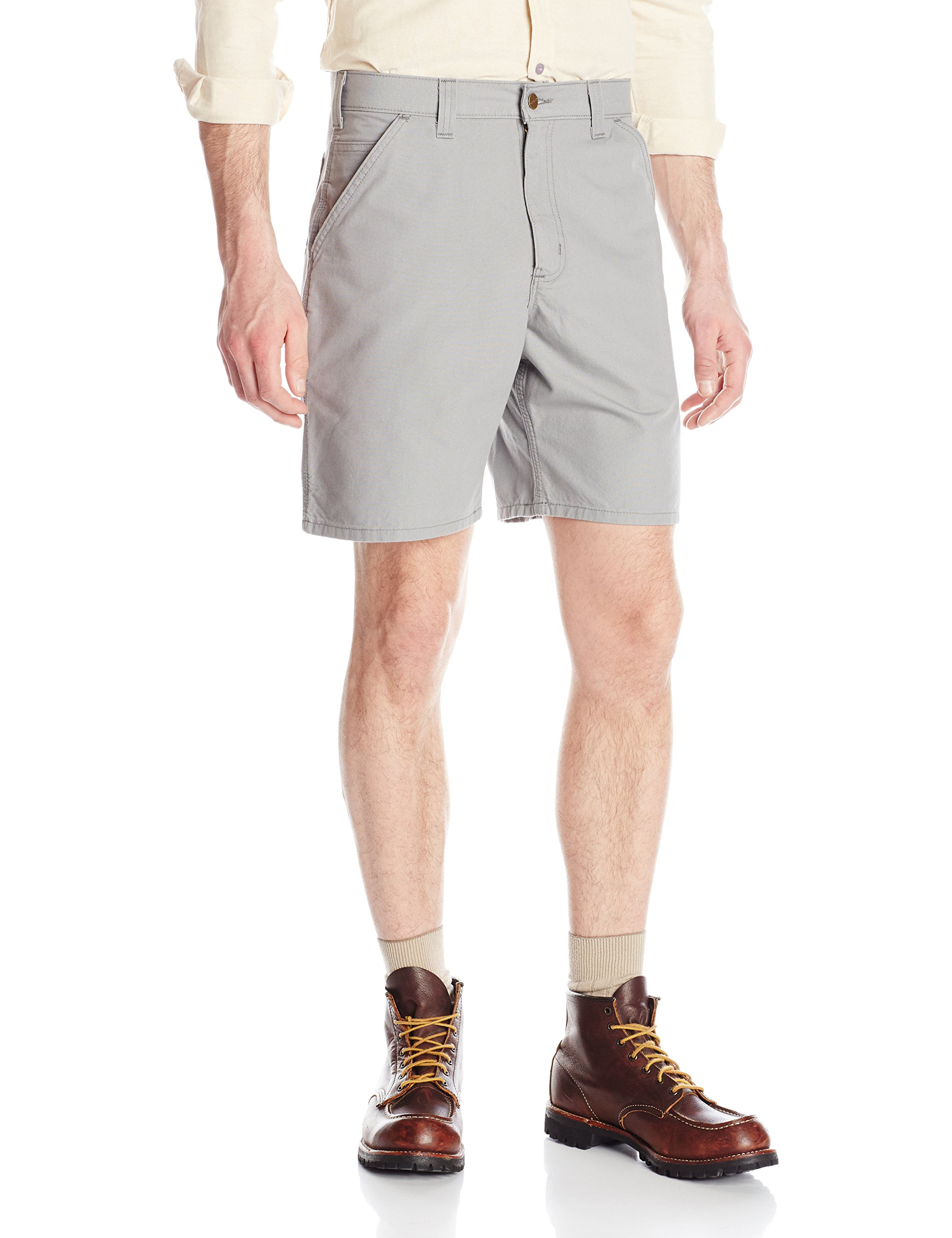 Carhartt Men's Canvas Utility Work Short, Asphalt, 36