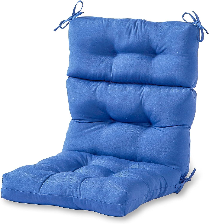 Greendale Home Fashions AZ4809-MARINE Blue 44'' x 22'' Outdoor Seat/Back Chair Cushion