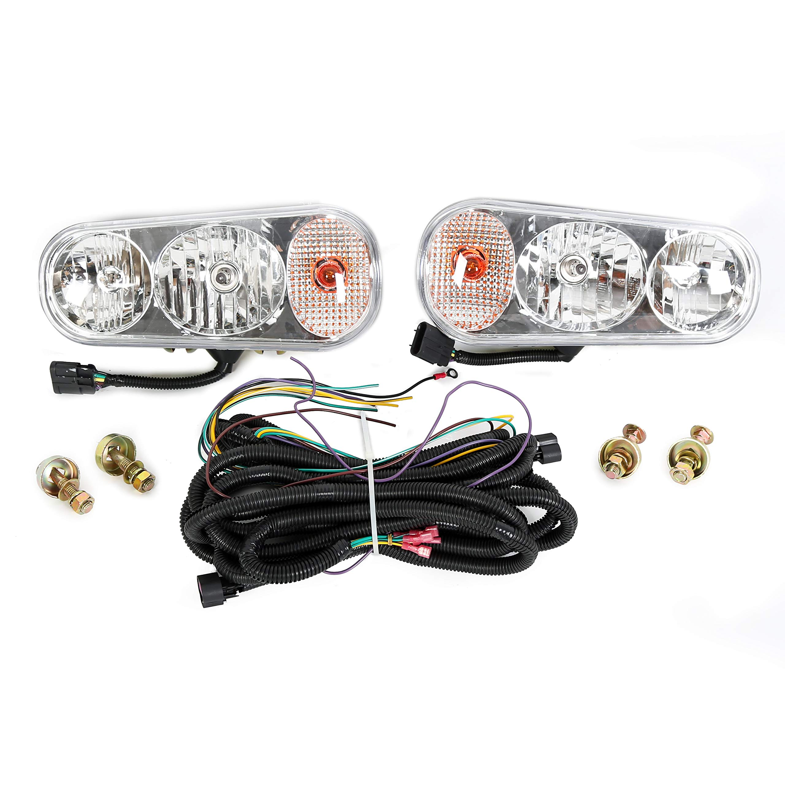 ECOTRIC Universal Halogen Snow Plow Lights Kit for Boss Western Meyer Blizzard Curtis by ECOTRIC