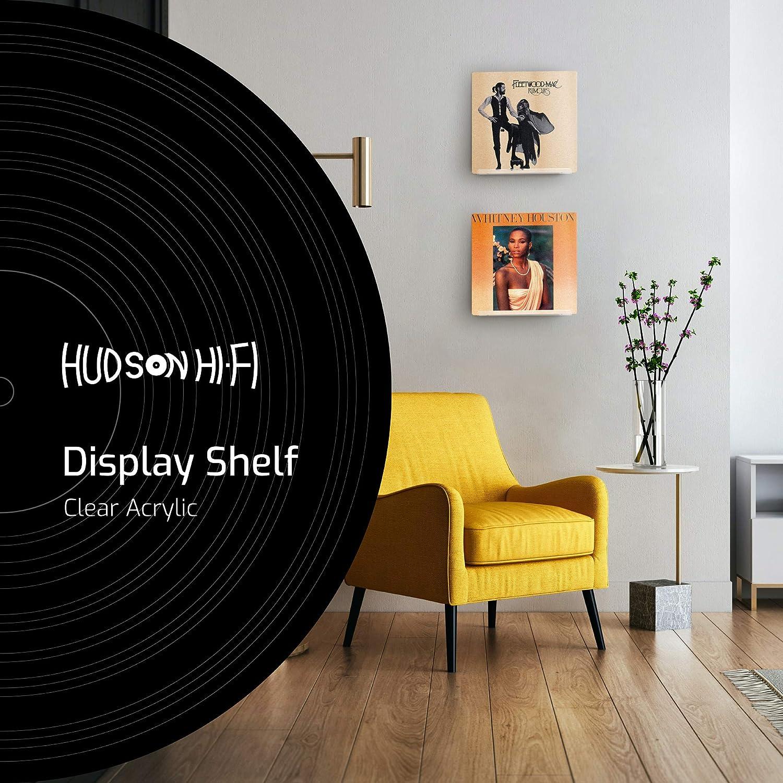 Acr/ílico Transparente Paquete de 12 Hudson Hi-Fi LP Vinyl Record Wall Display Muestra tu Escucha Diaria con Estilo