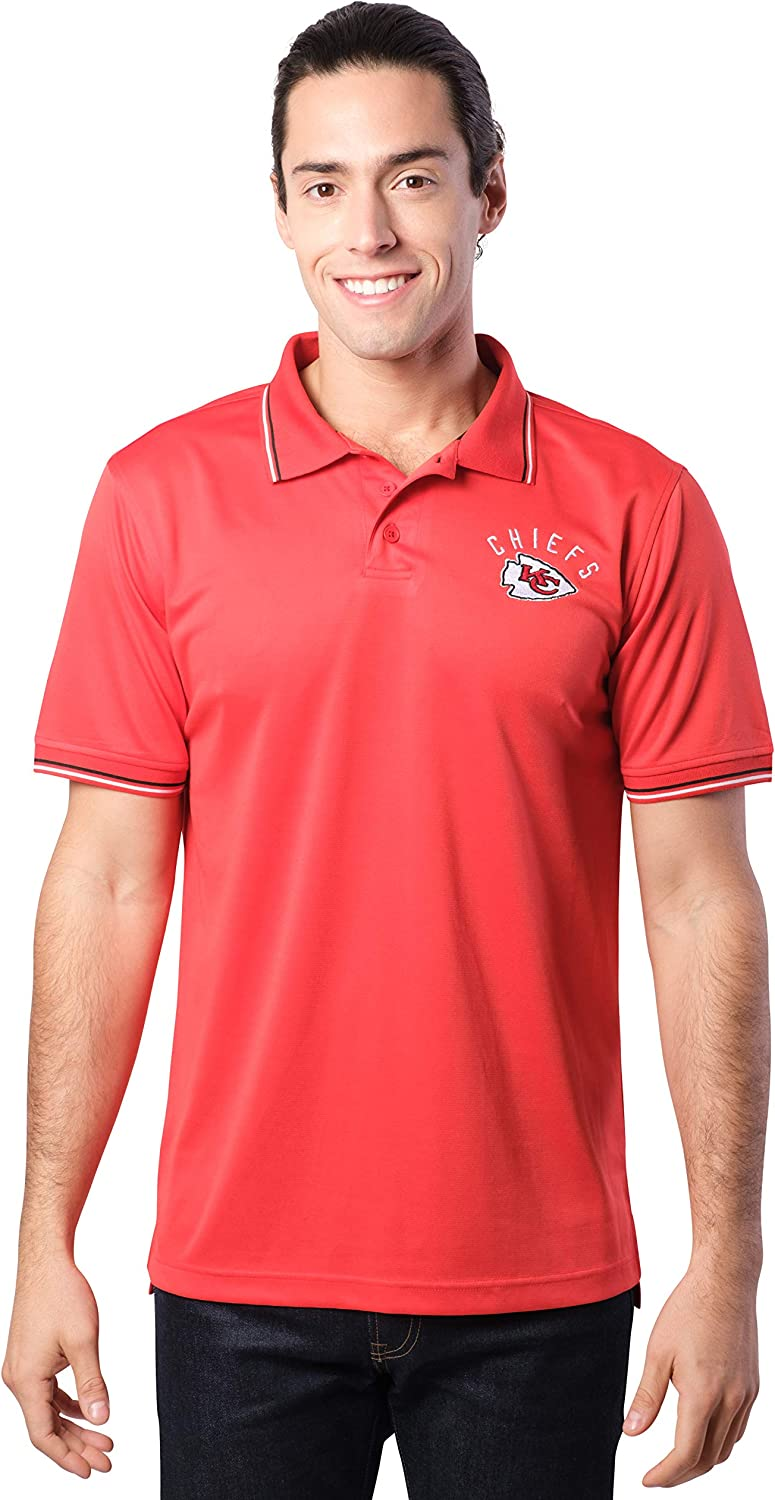 Ultra Game NFL Mens Moisture Wicking Tech Polo Shirt