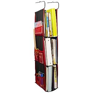 CROYD Locker Shelf Organizer Hanging Storage Ladder Adjustable for School, Work, Gym with Premium Hooks for Closet Rods