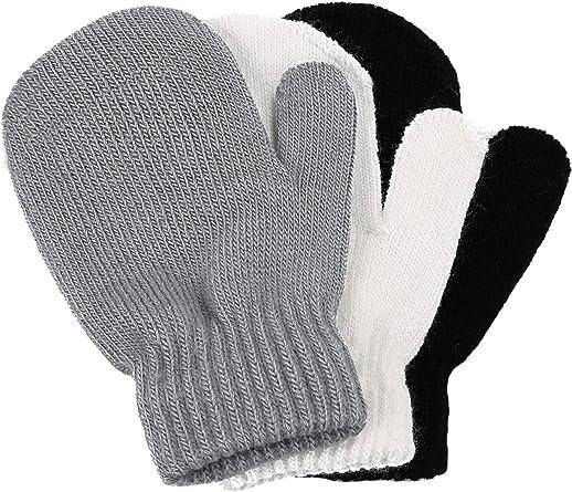 Children Girls Boys Kids Magic Elastic Mittens Knitted Gloves Winter Warmer New