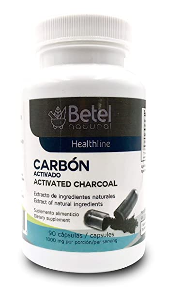 Carbon Activado Capsulas - Activated Charcoal Betel Natural 90 Capsules