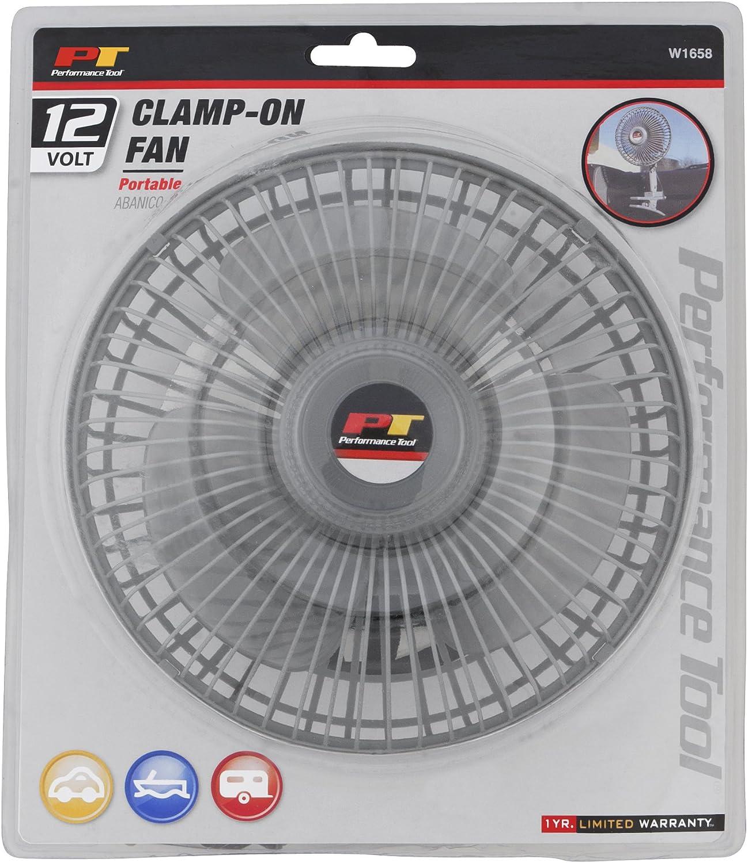12v w//clamp Performance Tool W1658 6 Oscillating Fan