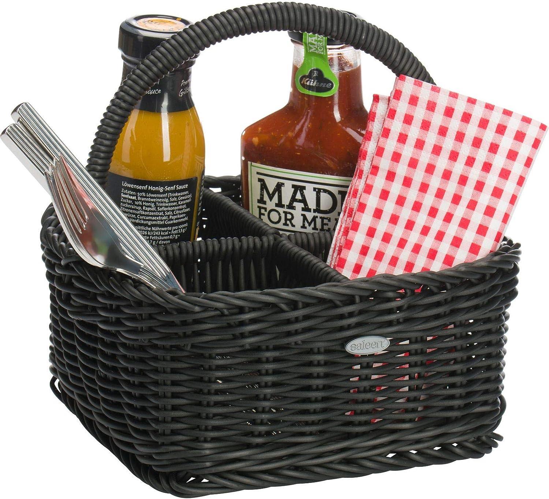 02011630101 Saleen Flaschen-Korb für bis zu 6 Flaschen Gastrotauglich Rechteckig Kunststofffaser Hellbeige 30 x 29 x 20 cm