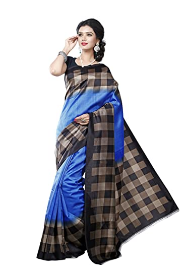 664b79f8c Maxis Printed Mysore Art Silk Saree  Amazon.in  Clothing   Accessories