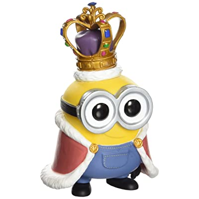 Funko Pop Movies Minions King Bob Minion Vinyl Figure: Funko Pop! Movies:: Toys & Games