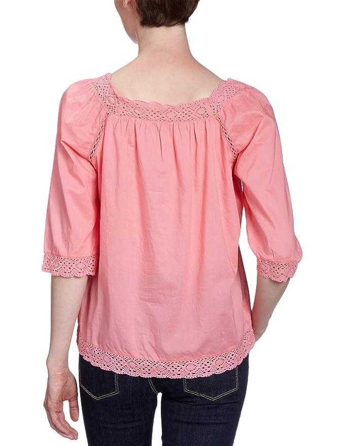 TOM TAILOR Denim Damen Bluse, 20173620071/oversized crochet blouse, Gr. 38  (M), Rot (4189): Amazon.de: Bekleidung