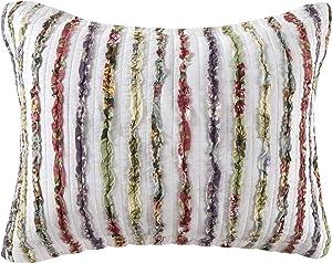 Greenland Bella Ruffle Standard Sham-Multi, Multicolor