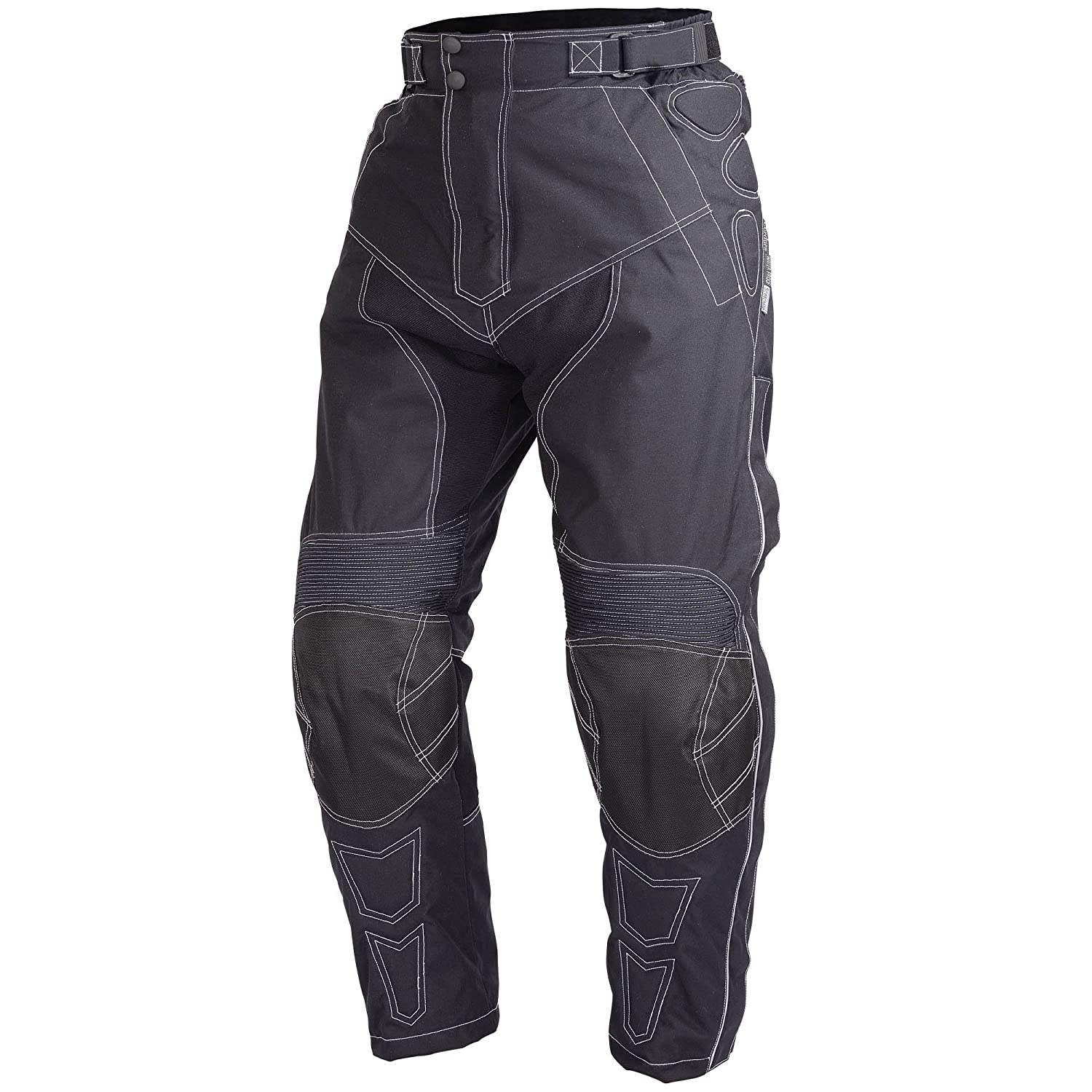 Motorcycle Cordura Riding Pants Black with Removable CE Armor PT5 (XL) Xtreemgear