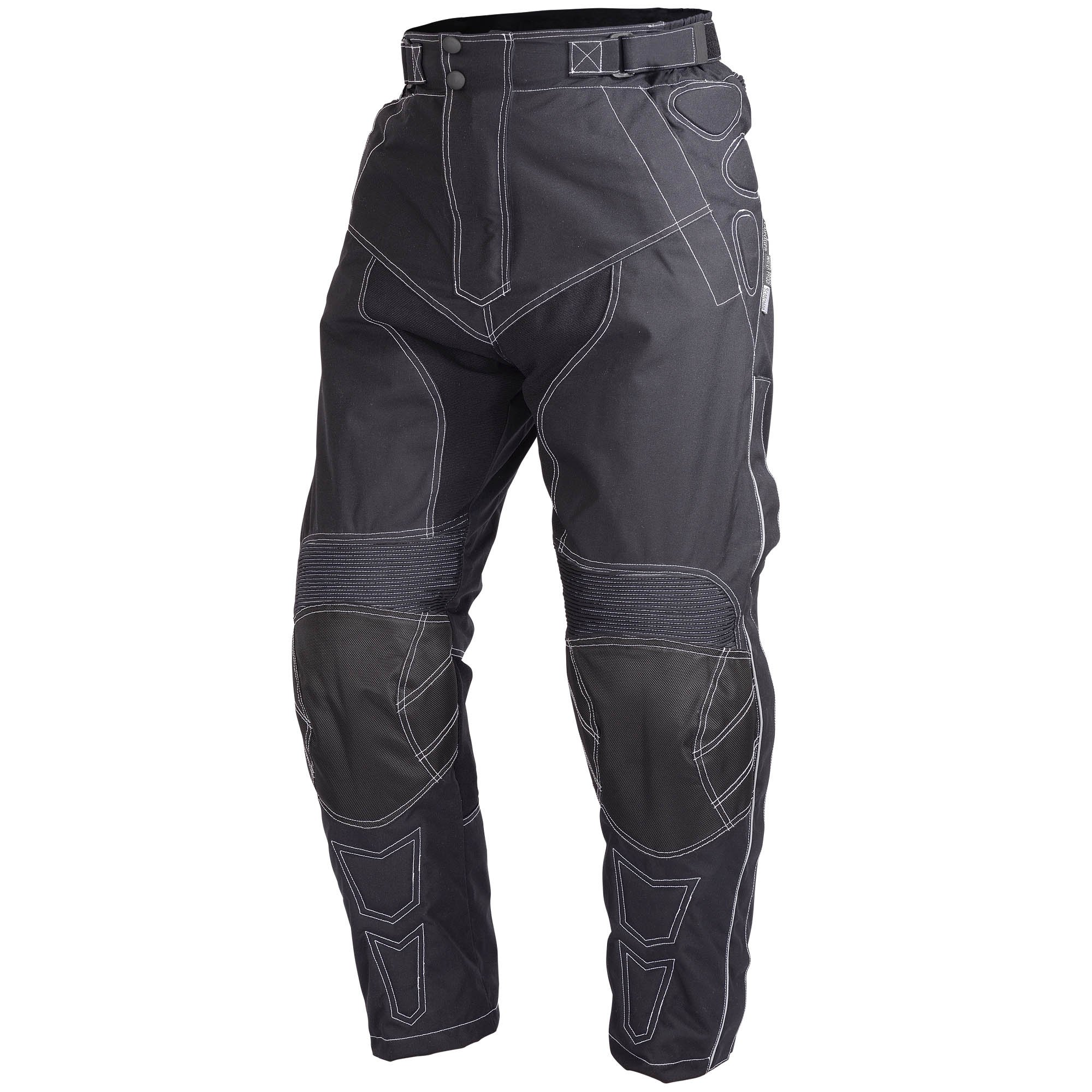 Motorcycle Riding Pants Black with Removable CE Armor PT5 (L-Short)