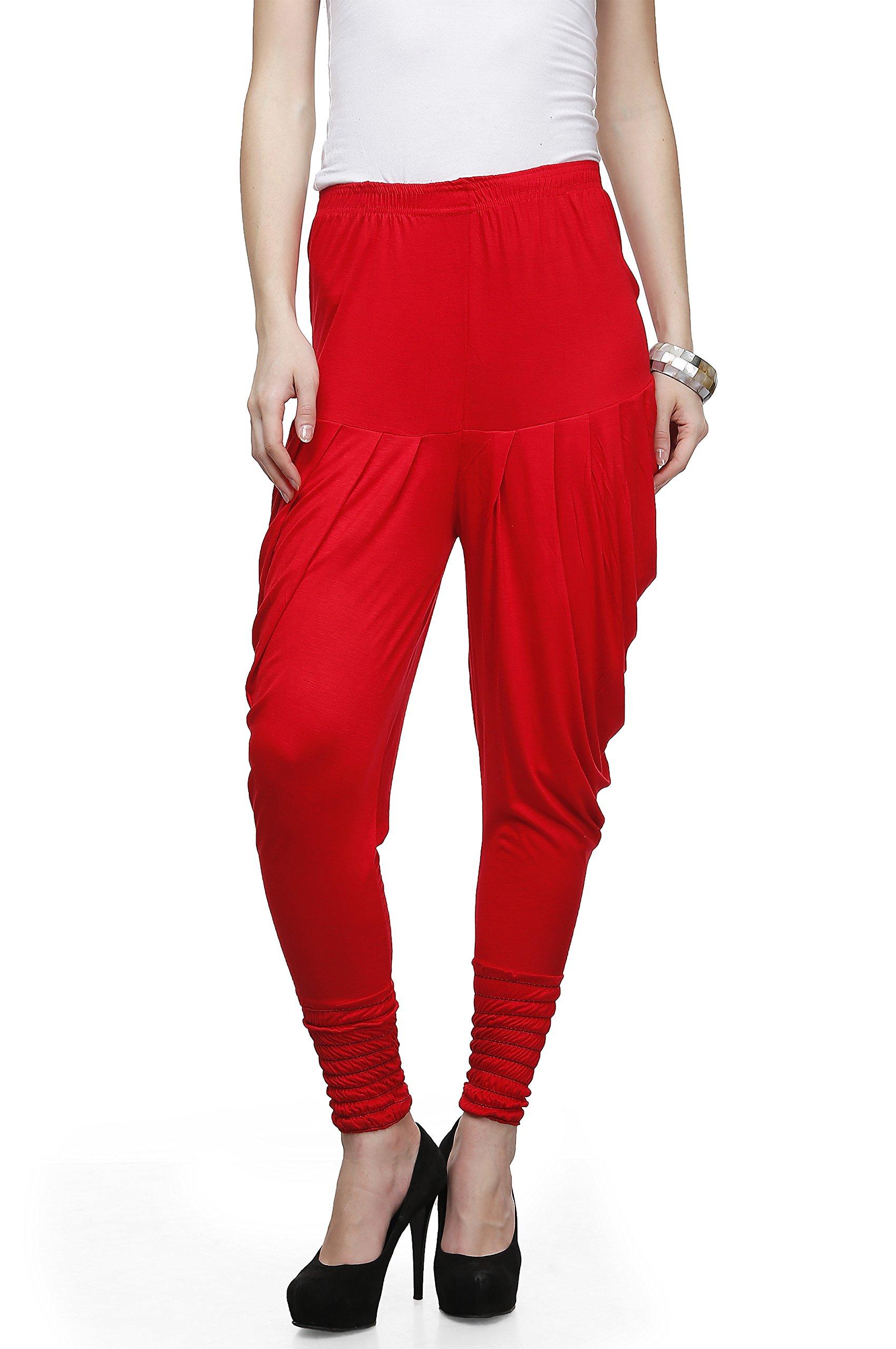 Legis Women's Viscose Dhoti Pants (RED402_Red_Free Size)