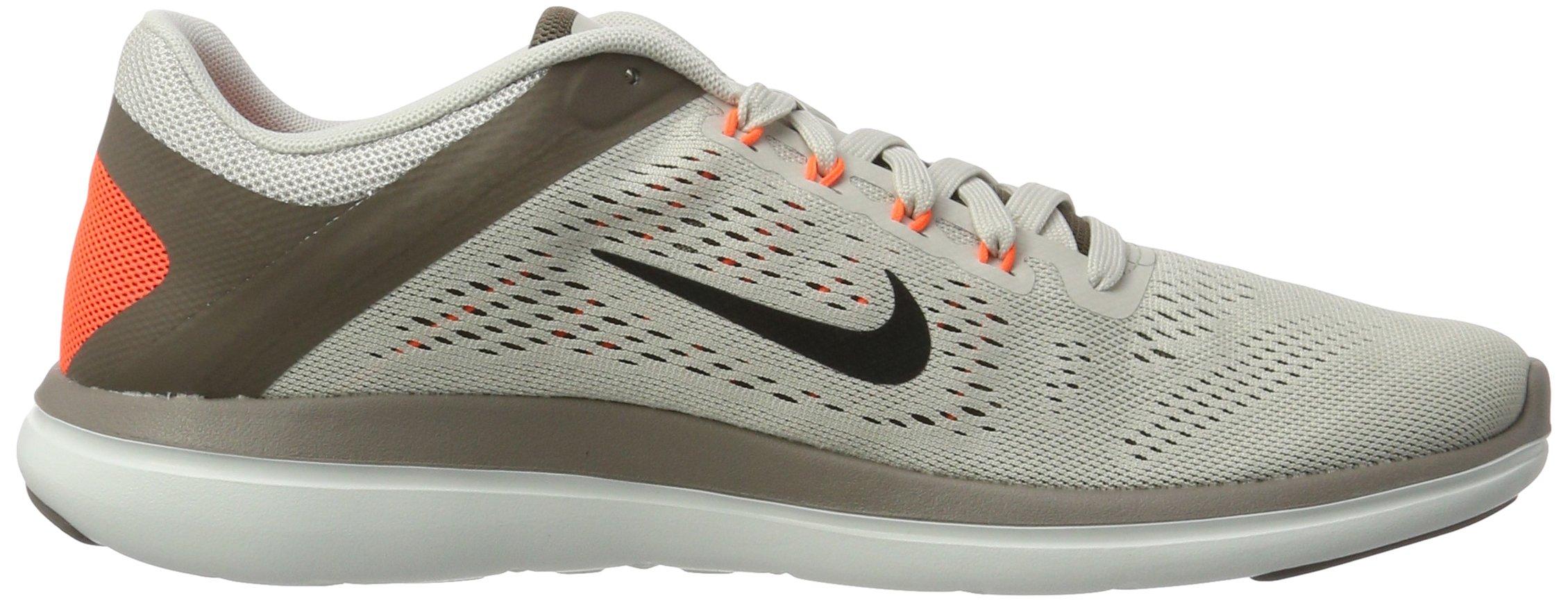 Nike Mens Flex 2016 RN Running Shoe Light Bone/Dark Mushroom/Hyper Orange/Black 8.5 D(M) US by NIKE (Image #6)