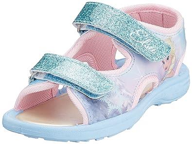 c812f6c118 Leomil Childrens Girls Frozen Elsa Glitter Touch Fastening Sandals