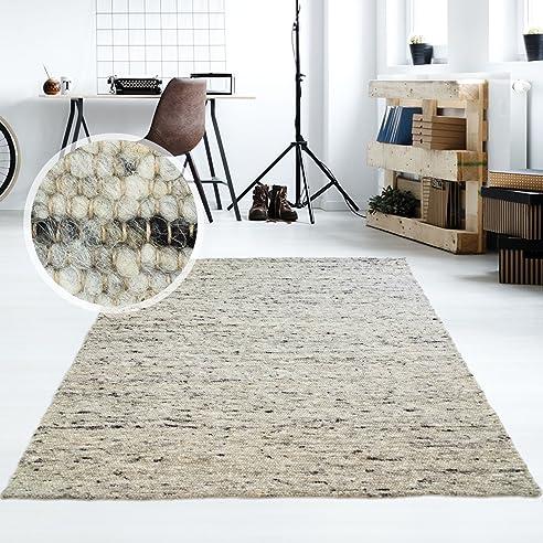 Amazon.de: Moderner Handweb Teppich Alpina handgewebt aus ...
