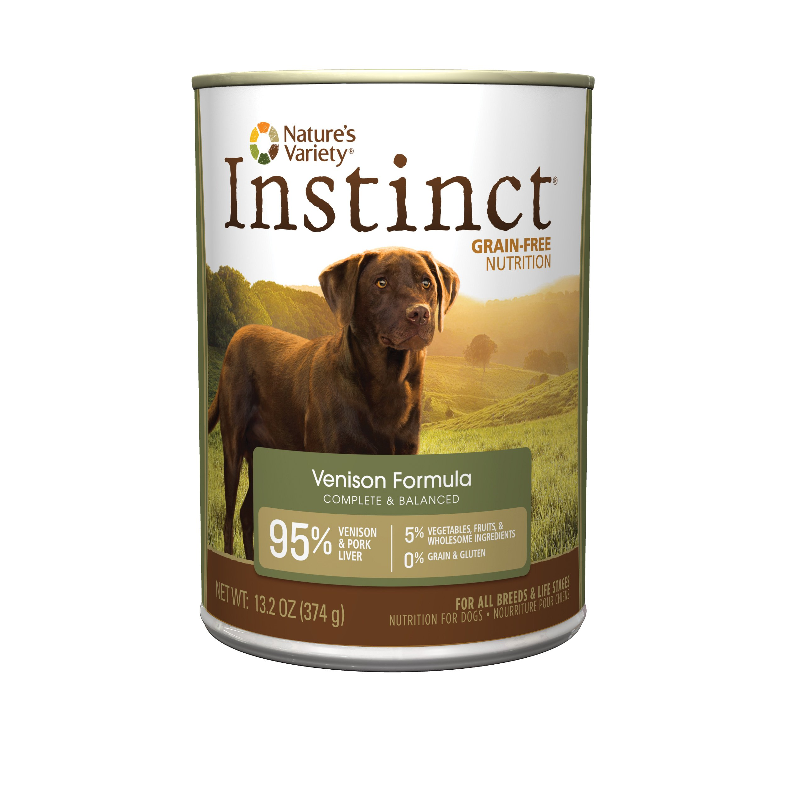 Nature'S Variety Instinct Grain Free Venison Formula Natural Wet Canned Dog Food By, 13.2 Oz. Cans (Case Of 12)