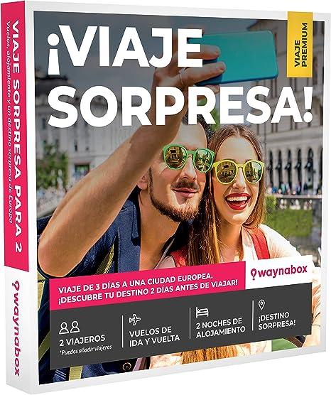 Caja Regalo Premium para Dos- ¡Viaje Sorpresa para Dos Personas ...
