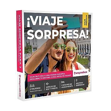 Caja Regalo Premium para Dos- ¡Viaje Sorpresa para Dos Personas! Vuelos + 2