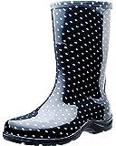Sloggers  女式防水雨花园靴舒适鞋垫 10 黑色 5013BP10