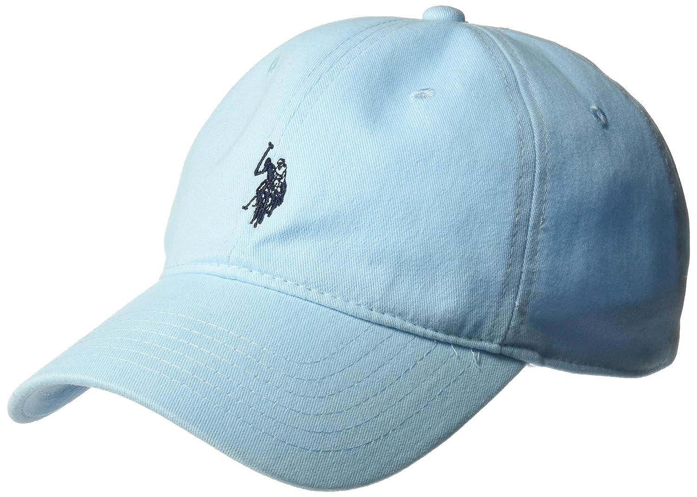 U.S. Polo Assn. Mens Standard Washed Twill Baseball Cap, 100% Cotton, Adjustable Dark Grey One Size ABPE2552AZ-046