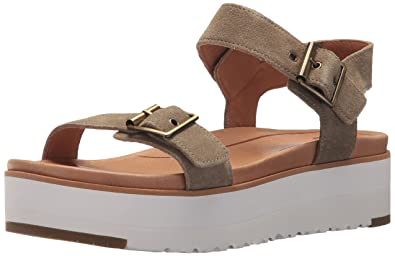 3353808c33e UGG Australia Women's Angie Ankle Strap Sandals: Amazon.co.uk: Shoes ...
