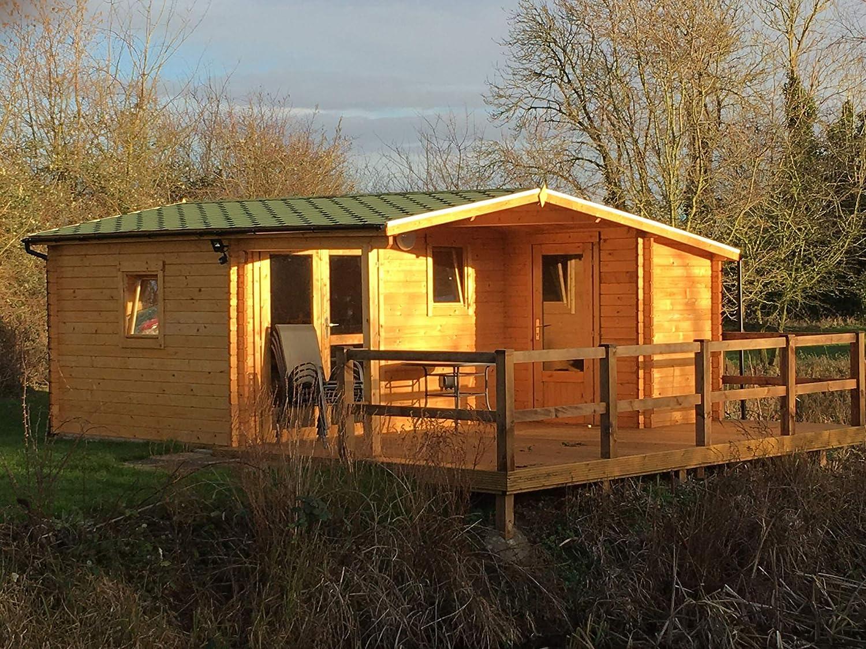 AL Wood Ltd - Cabaña de Madera para jardín, Oficina, Forma de L, 5, 1 m x 4, 8 m: Amazon.es: Jardín