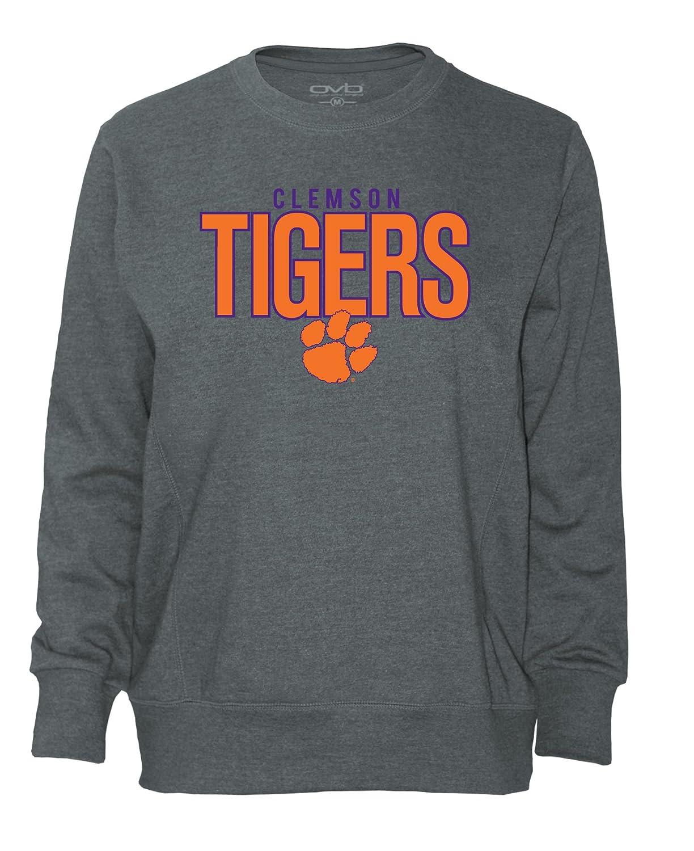 Old Varsity Brand NCAA Clemson Tigers Womens Plus French T-Shirt 1X Dark Heather