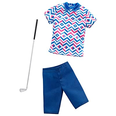 Barbie Clothes: Career Outfits for Ken Doll, Golfer Look with Golf Club, Gift for 3 to 8 Year Olds: Toys & Games