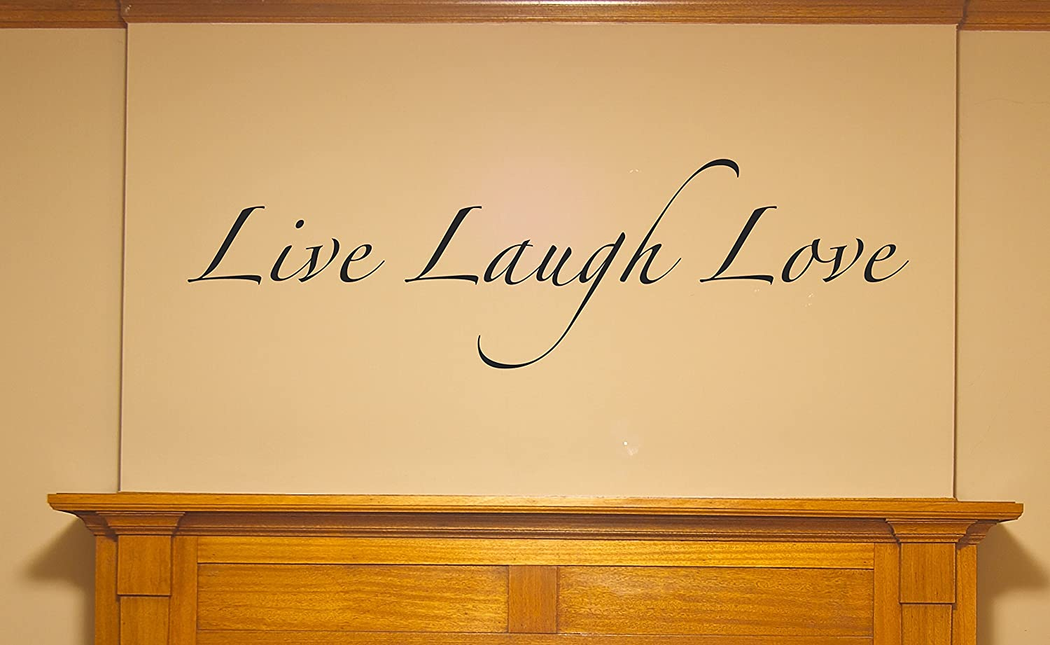Amazon.com: WALL DECALS - Live Laugh Love - lettering wall stickers ...