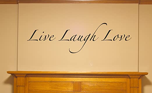 Amazon.com: WALL DECALS   Live Laugh Love   Lettering Wall Stickers   This  Decal Is Created By Digiflare Graphics, Original Product With Quality 100%  ...