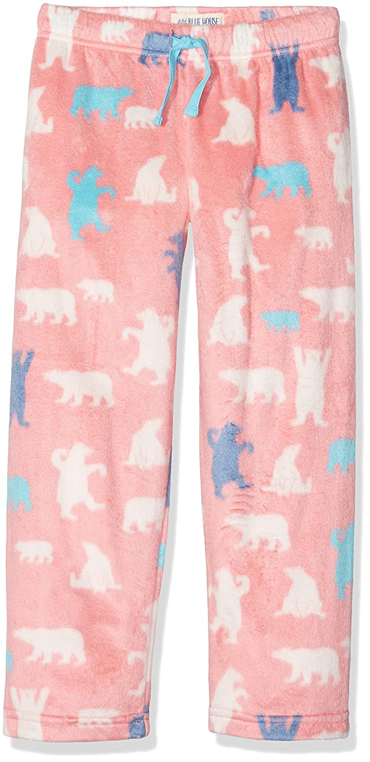 Hatley Girl's Lbh Kids Fuzzy Fleece Pants-Pink Bear Pyjama Bottoms 8 Years Little Blue House by Hatley PA3WIBE307