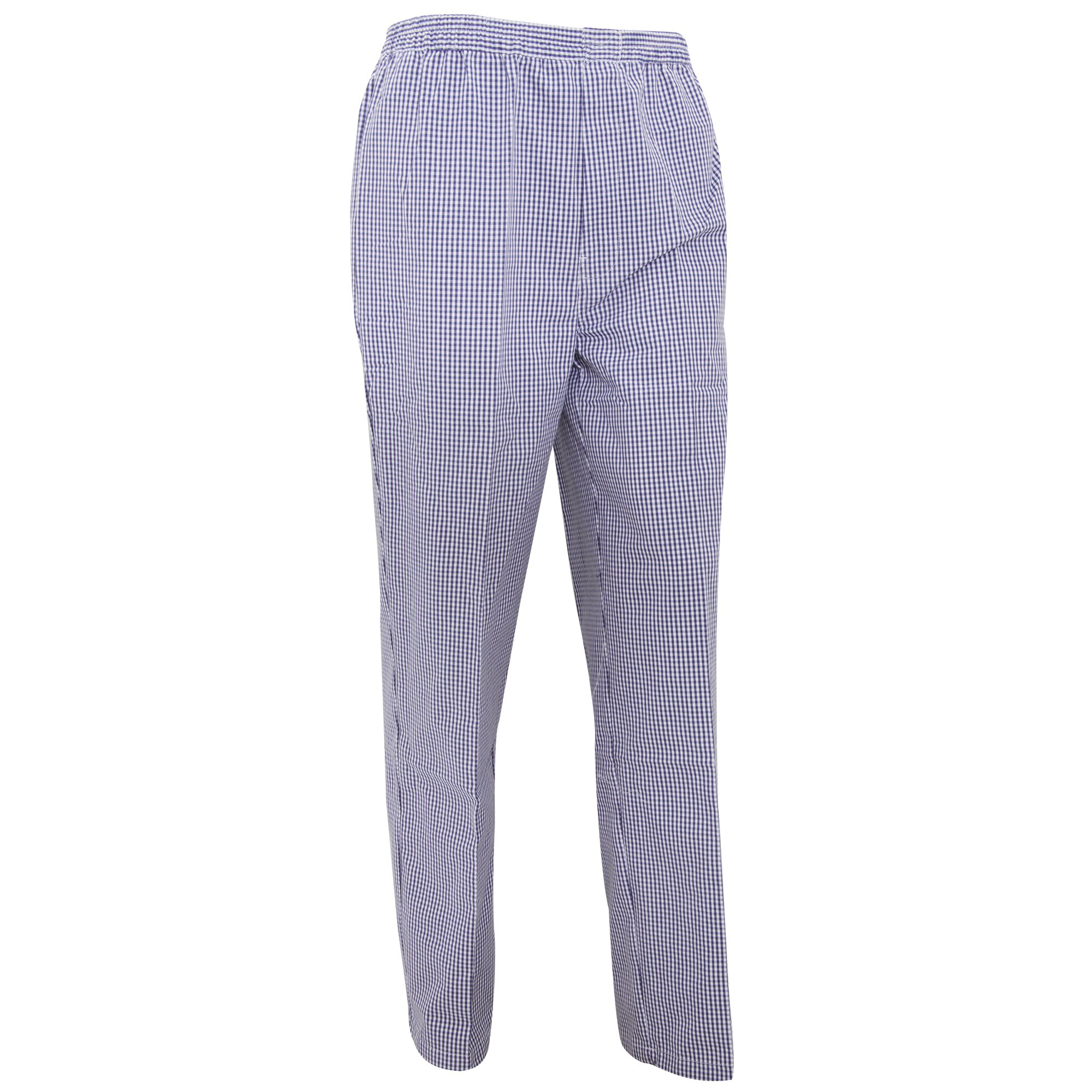 Premier Unisex Pull-on Chefs Trousers / Catering Workwear (S) (Navy/White Check)