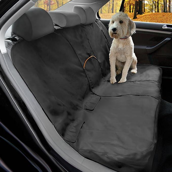 Kurgo Hundedecke Für Auto Rückbank Auto Sitzbezüge Für Hunde Und Andere Haustiere Universelle Passform Schwarz Haustier