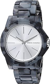 Armani Exchange Womens AX4343 Black and Grey Acetate Watch