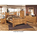 rustic king bedroom set. Ashley Bittersweet King Bedroom Set with Poster Bed Dresser Mirror and  Nightstand in Light Amazon com Size Mansion Rustic Free Delivery 6
