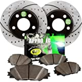 Approved Performance F14232 Front Kit Performance Drilled/Slotted Brake Rotors and Carbon Fiber Pads Fits 4WD Models only. Will Not Fit 2WD Models