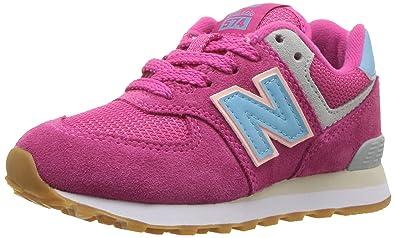 New Balance Boys' 574v1 Sneaker, Exuberant Pink, 12 M US