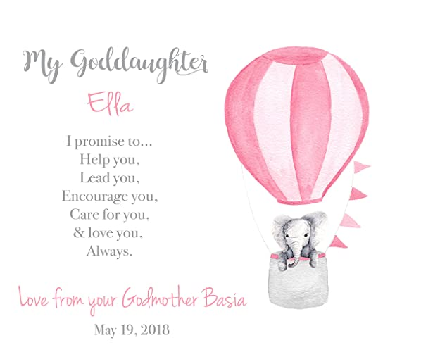 amazon com personalized goddaughter print baptism gift from
