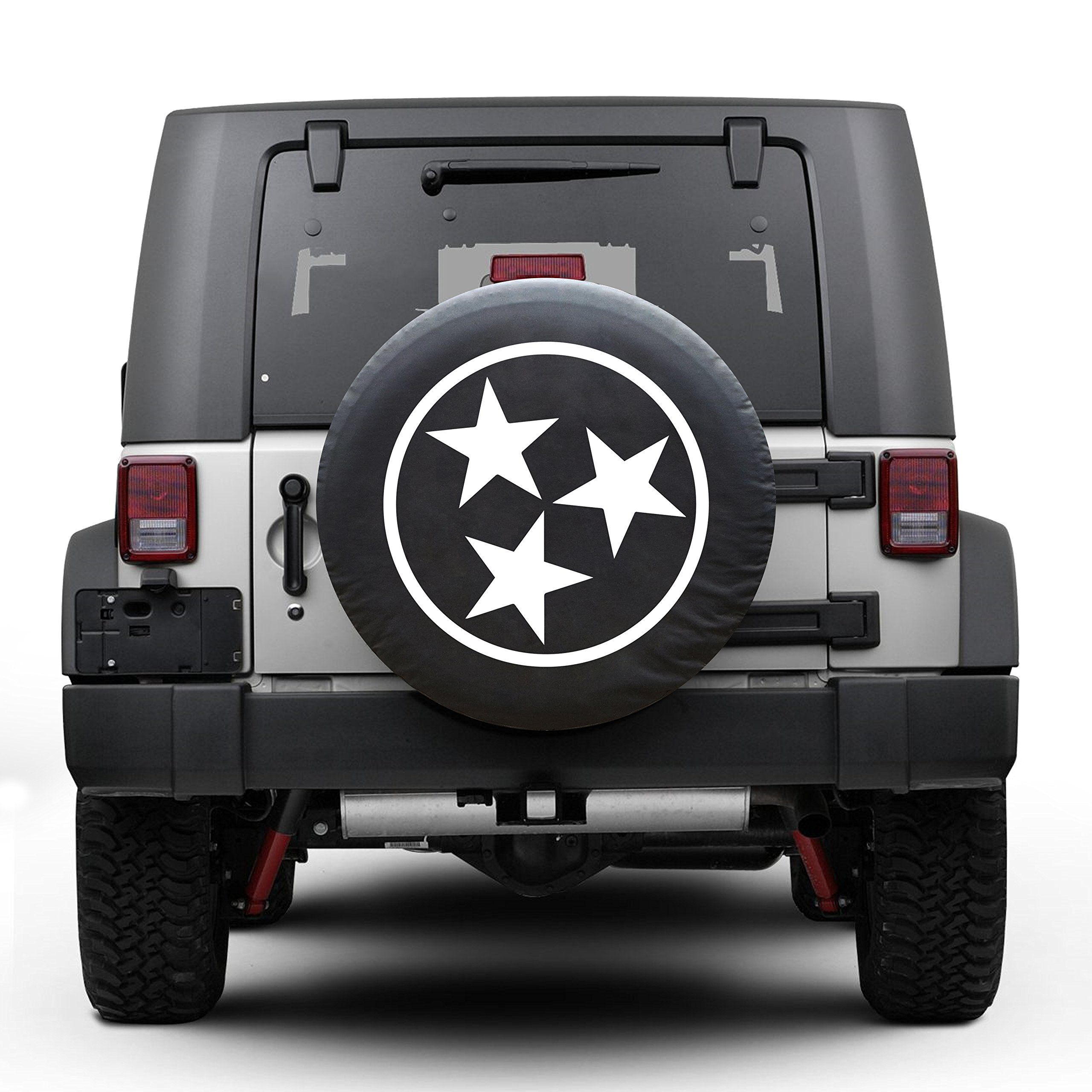 Tennessee tri star Tire Cover Fits 30''-32'' Tire (GRAY) by Ana-luo (Image #1)